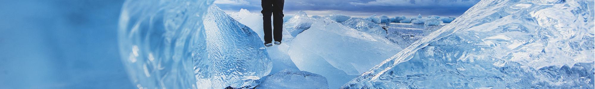 Mann im Eis